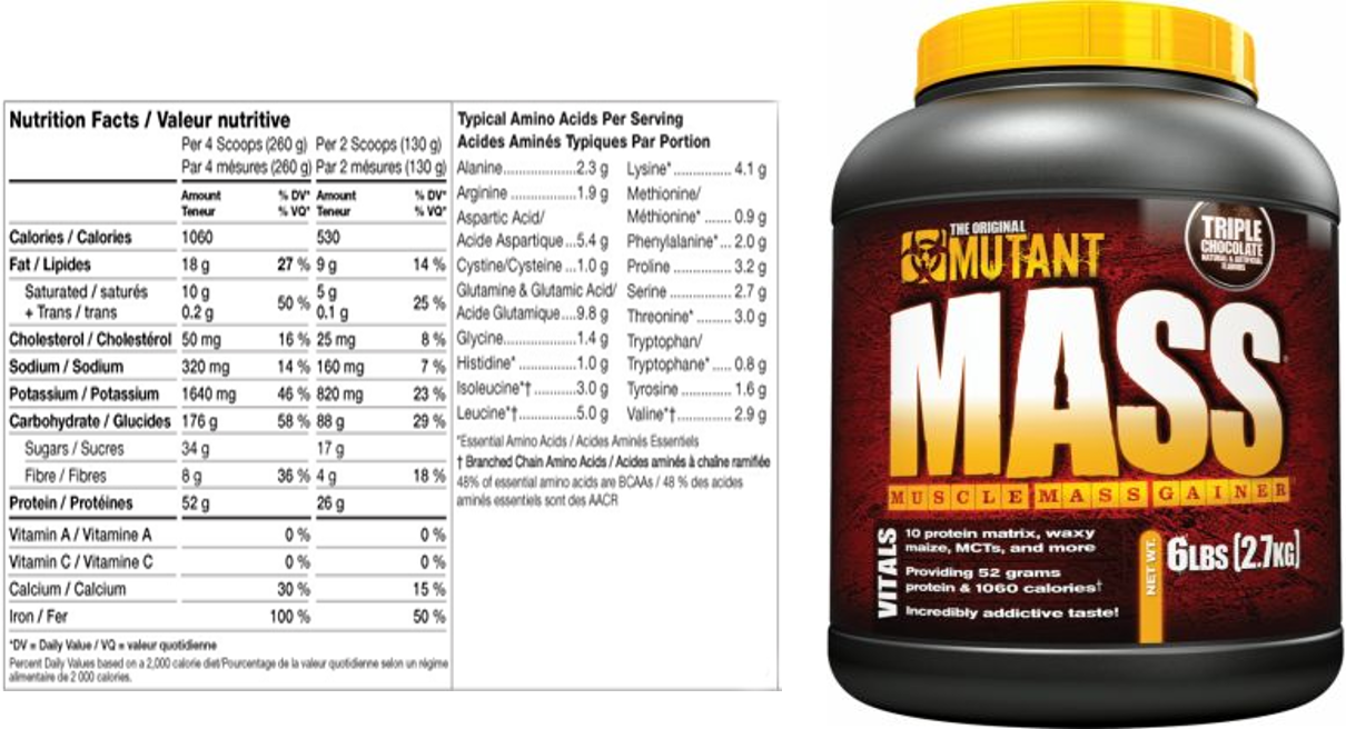 Mutant weight gainer prise de masse ectomorphe